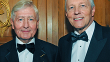 Dr Christopher Moran with former First Minister Peter Robinson