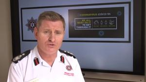 Michael Graham, interim chief fire officer, said face masks were ready for distribution and staff and family members with symptoms had started to access tests (NIFRS/PA)