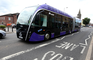 The Glider service was launched in 2018 and is operated by Translink.
