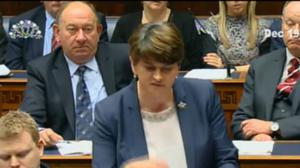 First Minister Arlene Foster gives a statement on her role in the botched renewable energy scheme.