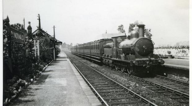 A train operating on the line