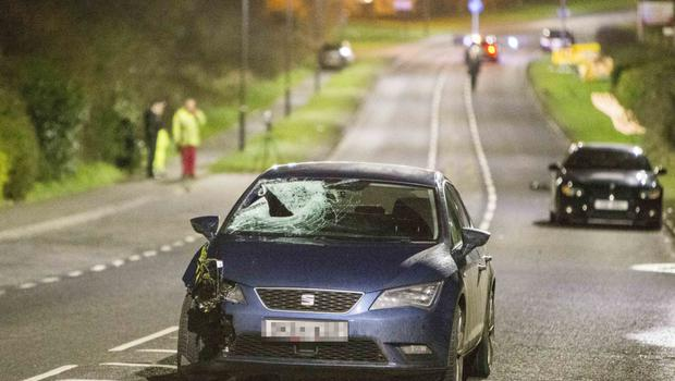 The scene of the accident on Flying Horse Road in Downpatrick