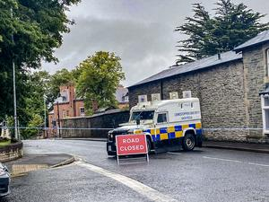 The scene of the fatal accident in Londonderry yesterday