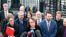 Fiona Cassidy of Jones Cassidy Brett Solicitors who represented a cross-party group of politicians speaks outside the High Court in Belfast following a judges dismissal of the UK's first legal challenges to Brexit