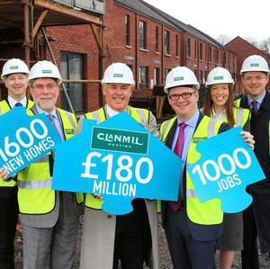 Clanmil Housing has agreed a deal which will see 1,600 new homes built in Northern Ireland (Press Eye/PA)