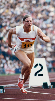 Mary Peters in action at the Munich Games