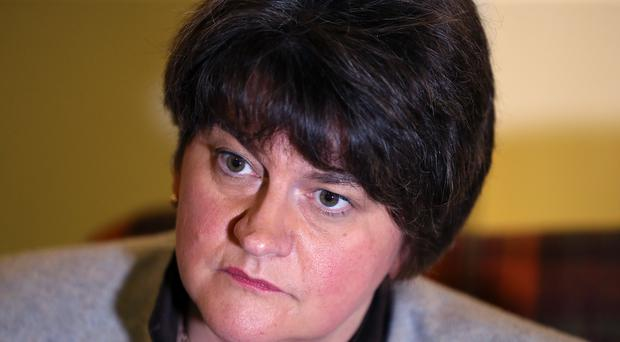 DUP party leader Arlene Foster at the Crown Plaza Hotel in Belfast ahead of the DUP annual conference there this weekend (Brian Lawless/PA)