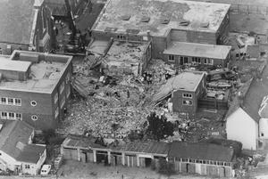 The aftermath of the bomb attack in 1989