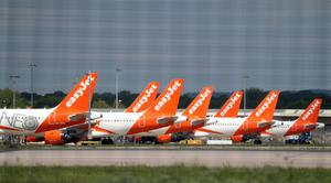 The airline easyJet has announced the planned resumption of further routes from Belfast International Airport from June 15 (Gareth Fuller/PA)