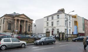 The former Presbyterian Church and Manse in Londonderry