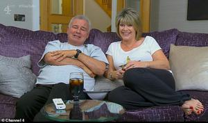 Eamonn Holmes with his wife Ruth Langsford on Celebrity Gogglebox