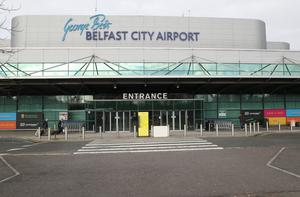 Struggling: The hit to air travel caused by the global health crisis is being felt at Belfast City Airport