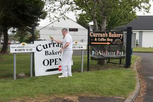 Phelim Curran whose bakery is still operating at the Vale Centre in Greysteel as other business remain closed