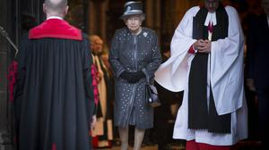 The Queen leaves Westminster Abbey in London after a service to commemorate the centenary of the Battle of the Somme.