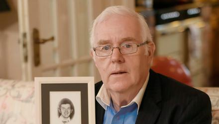 Development: Eugene Reavey whose brothers (from top: John, Brian and Anthony Reavey) were murdered in 1976. Credit: Kevin Scott