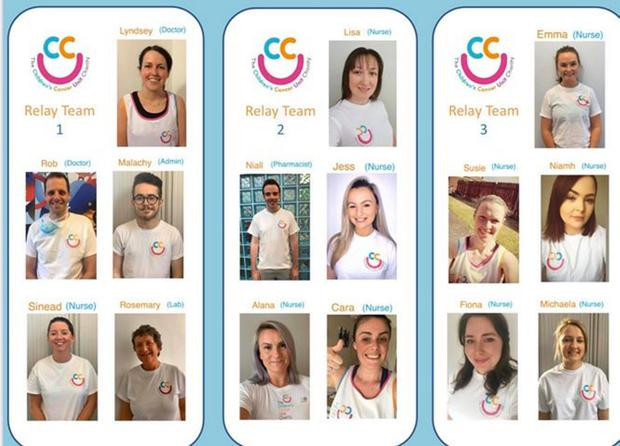 A team of 15 - made up of doctors, nurses, pharmacy, lab and admin staff at the Children's Haematology/Oncology Unit in the Royal Belfast Hospital for Sick Children - were all due to run the Belfast Marathon this weekend in three relay teams