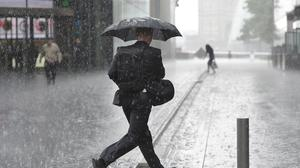 The UK is set for heavy rain after snow storms hit the US east coast