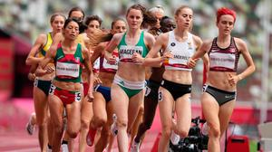 Ireland's Ciara Mageean during the Women's 1500m Heats at Olympic Stadium on the tenth day of the Tokyo 2020 Olympic Games in Japan. Martin Rickett/PA Wire.
