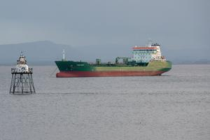 Troubles: The Thun Liffey oil and chemical tanker which ran aground