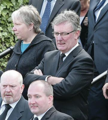 UUP leader Mike Nesbitt at the funeral