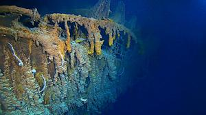 An expedition to the Titanic wreckage has uncovered a partial collapse of the ship's hull (Atlantic Productions/PA)