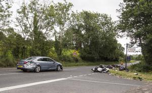 The scene of the Newry Road crash