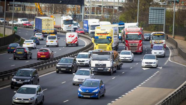 Congestion on the city's Westlink