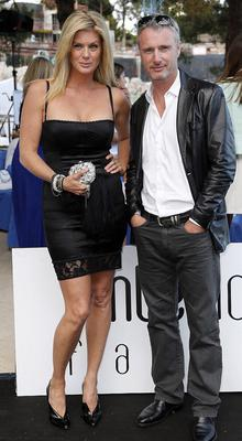 Eddie Irvine with friend Rachel Hunter