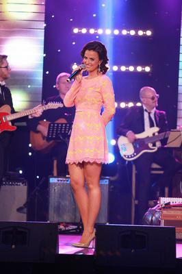 Lisa McHugh performing with her band