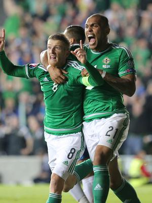 Classic kit: Steven Davis and Josh Magennis