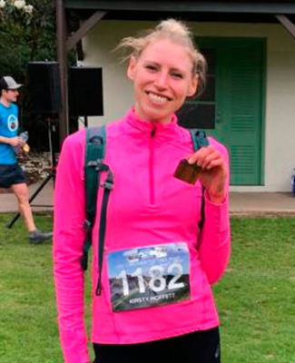 Kirsty Moffett died in a car crash in New Zealand on Sunday