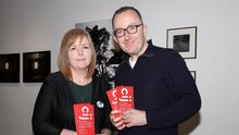 Nichola Corner and James Harkin, director of the CIJ, at the launch of bursary