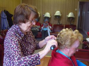 Aughnacloy native Margaret Sherlock, the UK's oldest hairdresser, who is returning to the salon