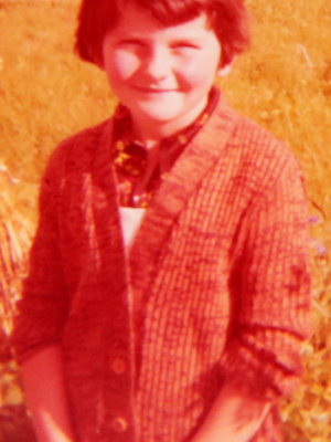 Arlene Foster as a young child in Fermanagh