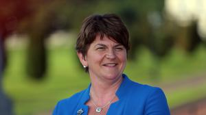 Arlene Foster was named acting first minister after the mass resignation of her party colleagues