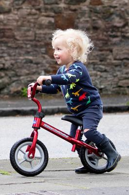Xander Irvine, three, who was killed in accident in Morningside, Edinburgh, when a car crashed onto a pavement on June 30 and whose funeral takes place on Thursday. PA Photo