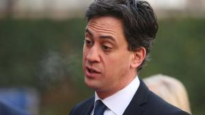 Labour leader Ed Miliband visits Hazelwood Integrated College in North Belfast