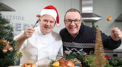 Chef Stephen Jeffers from Forestside Cookery School and Dr Gary Kearney from safefood