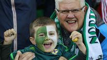 Excited: Northern Ireland's happy fans