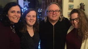 Faith: Rev Steve Stockman with his wife Janice and daughters Jasmine and Caitlin