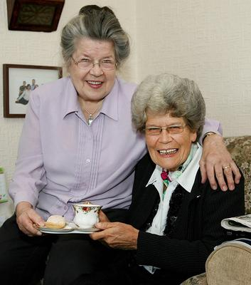 Maud and her sister Margaret Keane in Cookstown