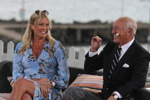 Alison Campbell and former Strictly judge Len Goodman