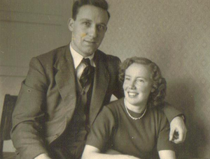 Norman and Winnie as a young couple