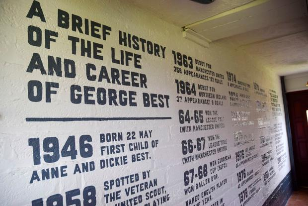 Timeline of George Best's athletic career at the George Best House