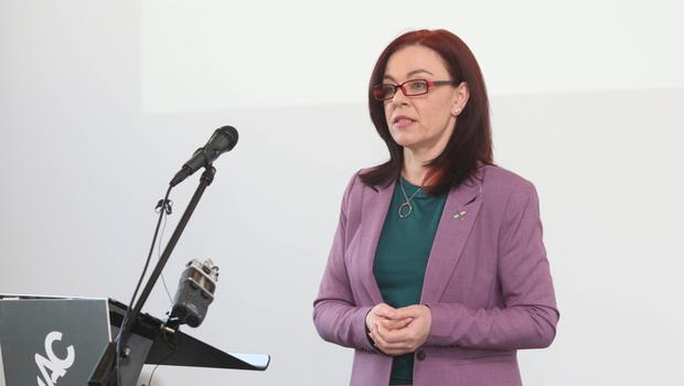 Clare Bailey at the Green Party conference