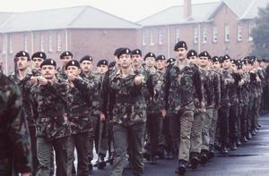 A passing out parade of the UDR in 1984