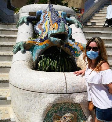 Ingrid Lopez at Park Guell in Barcelona