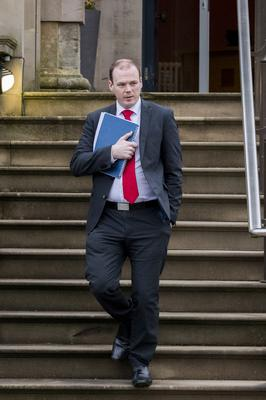 """DUP junior minister Gordon Lyons insisted the Internal Market Bill represented a """"step forward"""" (Liam McBurney/PA)"""