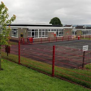 Carniny Primary School in Ballymena where a dog attacked a boy in the playground