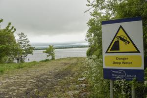 The remote spot on Upper Lough Erne near Lisnaskea where the Mitsubishi car belonging to Tony Lynch was found 18 years after he went missing